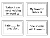 Morning Meeting Share Prompts