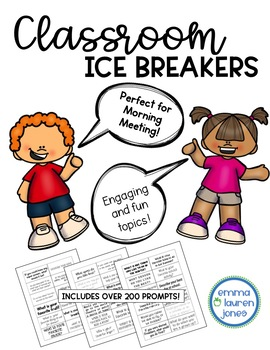 Morning Meeting Questions - YEARLONG - Ice Breakers