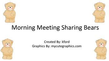 Morning Meeting Sharing Bears