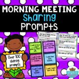 Morning Meeting Sharing Cards