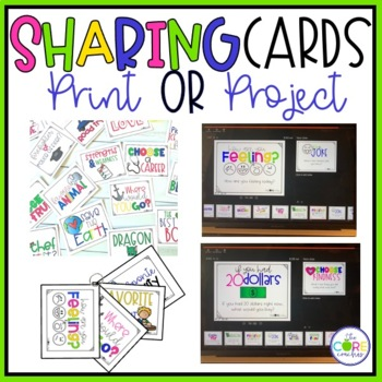 Morning Meeting Sharing Cards- Editable