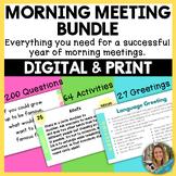 Morning Meeting Greetings, Sharing Questions, and Activiti