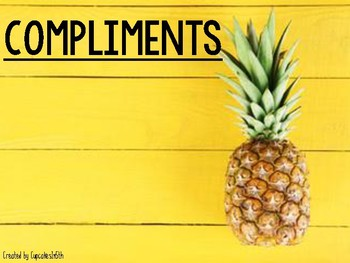 Morning Meeting Signs: Pineapple Themed