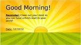 Morning Meeting Slide Show *EDITABLE*