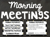 Morning Meeting Slides - Black and Gold