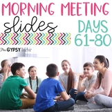 Morning Meeting Slides 61-80   Social-Emotional Learning: