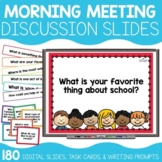 Morning Meeting Slides & Discussions (180 slides, task car