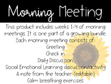 2nd Grade Morning Meeting Slides (First 4 weeks)
