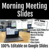 Morning Meeting Slides   Full Year Bundle   100% Editable