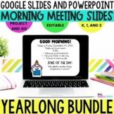 Morning Meeting Slides  GROWING BUNDLE l Google Slides l P