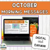 Morning Meeting Slides | October
