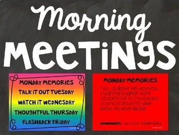 Morning Meeting Slides - Rainbow