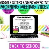 Morning Meeting Slides l Google Slides l Powerpoint