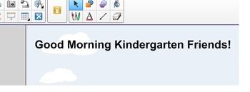 Morning Meeting Smart Board for Kindergarten
