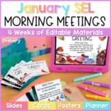 Morning Meeting Social-Emotional Learning - Slides, Cards,