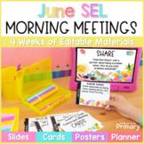 Morning Meeting Social-Emotional Learning - Slides for the