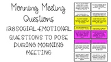 Morning Meeting Social-Emotional Task Cards