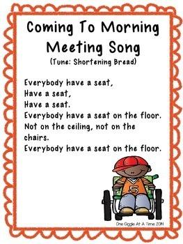 Morning Meeting Songs