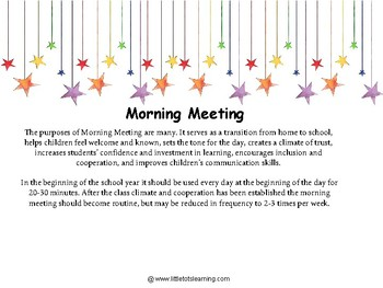 Morning Meeting Greetings, Activities, Mindset Quotes, Discussion Questions