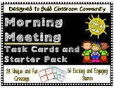 Morning Meeting Task Cards and Starter Pack **OVER 80 CARD