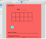 Daily Math Place Value (using Notebook for Smartboard)