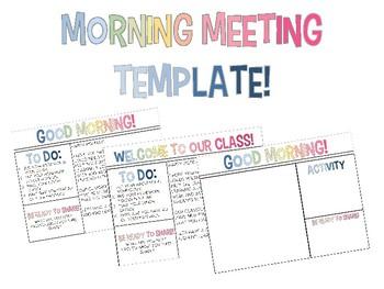 Morning Meeting Template
