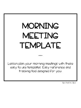 Morning Meeting Template