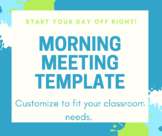 Morning Meeting Templates for the Smart Board Full Week