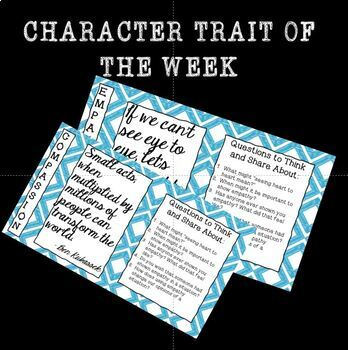 Morning Meeting Trait of the Week
