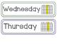 Morning Meeting Wall - days of week, months, season, weather & temperature