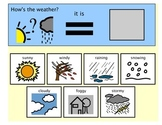 Morning Meeting Weather Chart - Autism Boardmaker