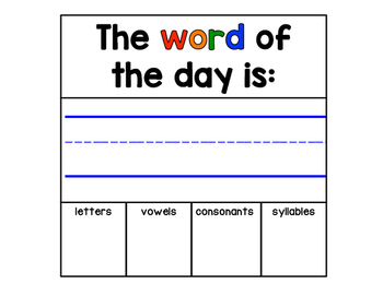 Morning Meeting: Word of the Day