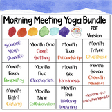 Morning Meeting Yoga School Year Bundle