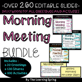 Morning Meeting Bundle Greetings, Shares, Activities  Full