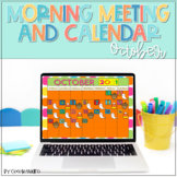 Morning Meeting and Calendar for October PowerPoint and Go