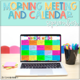 Morning Meeting and Calendar for September PowerPoint and