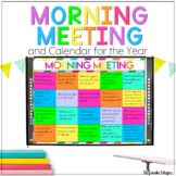Morning Meeting and Calendar for the Year Bundle PowerPoin