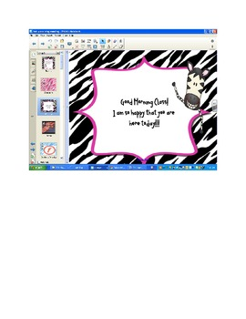 Morning Meeting and Character Building Zebra Theme