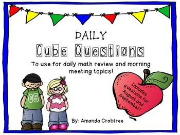Morning Meeting and Math Review - August/September