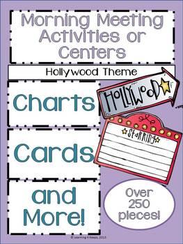 Morning Meeting and Math Wall Activities (Hollywood Theme)
