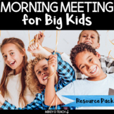Morning Meeting for Big Kids | Social-Emotional Learning in Upper Elementary