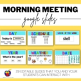 Morning Meeting for Distance & Virtual Learning - Special