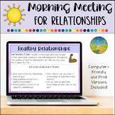 Morning Meeting for Social Emotional Learning: Relationships