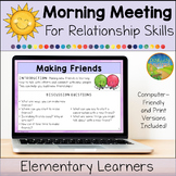 Morning Meeting for Social Emotional Learning: Relationshi