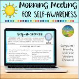 Morning Meeting for Social Emotional Learning: Self-Awareness
