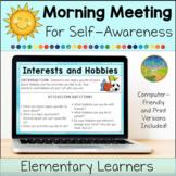 Morning Meeting for Social Emotional Learning: Self-Awareness (Elementary)