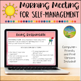 Morning Meeting for Social Emotional Learning: Self-Management