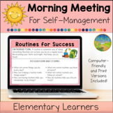 Morning Meeting for Social Emotional Learning: Self-Management (Elementary)