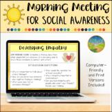 Morning Meeting for Social Emotional Learning Social Aware