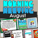 Digital Morning Meeting August National Holiday, Share, Re